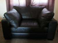 Next Sonoma II Leather Sofa Couch Seat cost £900 Excellent Condition
