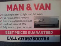 Man and van,removal services