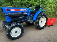 ISEKI 155 4WD Compact Tractor & New 105cm Flail Mower *** NICE TRACTOR ***