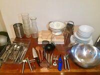 Kitchen Set - Plates, Cutlery, Bowls, Pans, Glasses