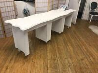 White shabby chic nail desk