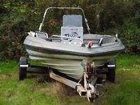 Bayliner Bass Boat hull & trailer