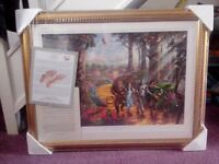 Thomas kinkade limited edition wizard of oz print, still sealed,(follow the yellow brick road)