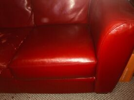 Free 3 seater Reid leather sofa, structure good, needs cover