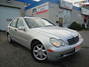 2003 Mercedes-Benz C-Class AWD_Accident Free_Leather_Sunroof