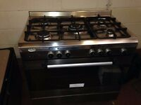 90cm 5 Burner Range Cooker - Stainless Steel - Duel Fuel - Great Condition!
