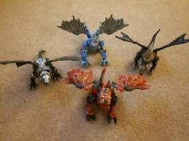 4 Toy Dragons