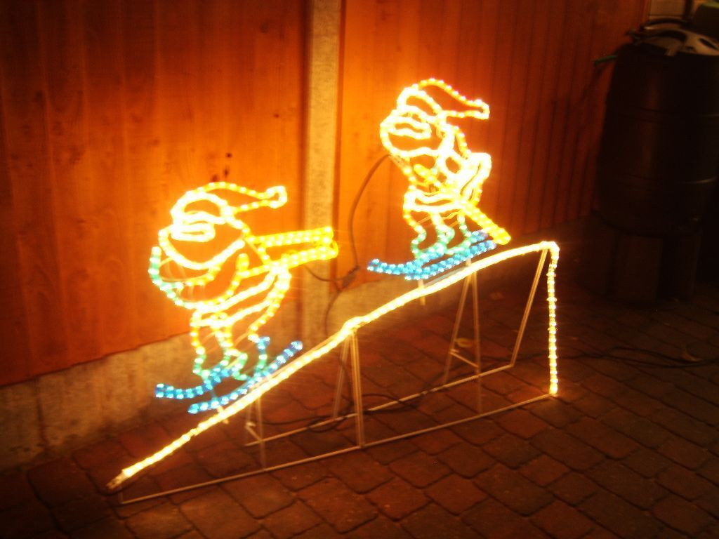 Outdoor skiing santa rope light display in chelmsford essex gumtree outdoor skiing santa rope light display aloadofball Choice Image