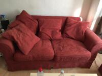 Double sofa bed with two armchairs - good condition