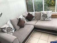 3 seater fabric corner sofa