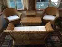 Garden wicker furniture set