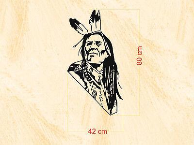 Western & Country Tattoo - Indianer - 42x80 cm - Wand-, Fenster-, Möbel- Tattoo