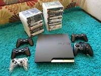 PS3 34Games 5Controllers plus Cables