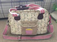 Yummy Mummy Pink lining Dalmatian nappy change bag