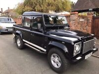 2007 LANDROVER DEFENDER 110 XS DOUBLE CAB LWB 2.4 DIESEL BLACK 2 PREVIOUS OWNERS SERVICE HISTORY