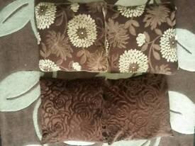 Chocolate brown cushions
