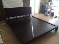 Modern Mahogany Bed in Excellent Condition - Super King Size