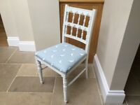 Hand Painted Vintage Occasional Chair in Sophie Allport Runner Duck