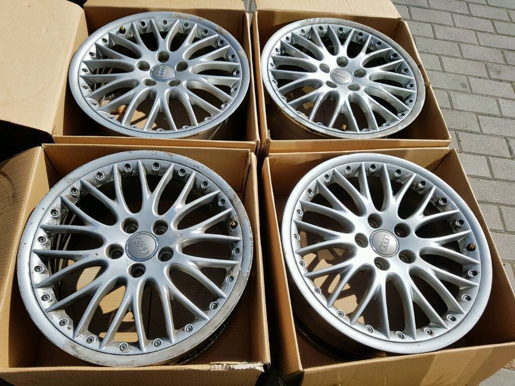Genuine Audi 18 Inch Bbs Speedline Alloy Wheels 5x112 Split Rims For A3 A4 A6 Tt Vw Golf Etc