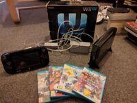 Wii U 32 Gb Black with 4 games Super Smash Bros, Pokken, Splatoon + Xenoblade