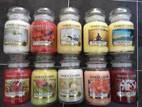 Large Yankee Candle jars