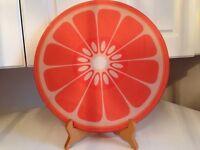 Psychedelic vintage reinforced glass 'slice of orange'