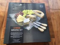 Brand New (in original packaging) Masterclass Cheese Serving Set with board and cheese knives- £18