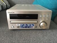 Denon DM40-DAB Mini HiFi System - silver, like new