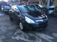 BREAKING - VAUXHALL CORSA D - FACELIFT FRONT BUMPER - COMPLETE - BLACK Z22C - ALL PARTS AVAILABLE