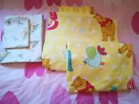 Curtains and bedding for child room