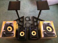 KRK Rokit 6 Powered Monitor Speakers - Pair w/ STANDS