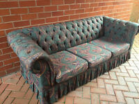 FREE SOFA - Lovely condition - 3 seater - plus chair -comfortable - collect Newcastle