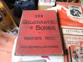 Antique music book Book Of 200 Celebrated Songs Weymouth