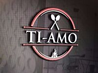 NEW EXCITING RESTAURANT Ti amo Opening Early July