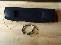 Peugeot 107 rear parcel shelf with speakers