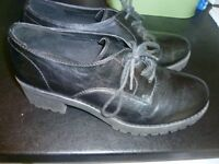 Deichmann Graceland chunky lace up shoes size 40/size 6