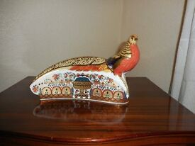 ROYAL CROWN DERBY PHEASANT PAPER WEIGHT , COLLECTION DERBY