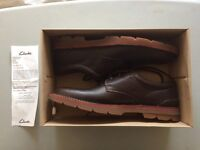 Clarks Varick Free Dark Brown Tumbled Brand New In Box RRP £70 Size 11 Rare Item