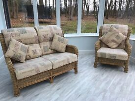 Lovely 4 Piece Habasco Rattan Furniture Conservatory Suite
