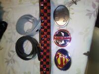 DC Superman/Batman/Deadpool buckles & leather belts.