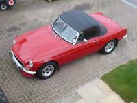 MGB Roadster, 1971, red, very good condition, MOT May 2019, lovely to drive