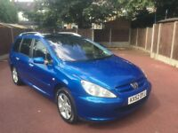 52 PLATE PEUGEOT 307 ESTATE 7 SEATER PANAROMIC ROOF TOW BAR 2.0 HDI DIESEL SERVICE HISTORY MOT