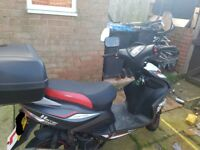 125cc sinnis harrier with alarm and usb carger built in £900 ono