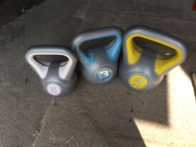 Kettle weights x 3