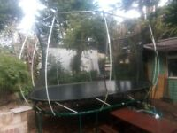 Springless trampoline