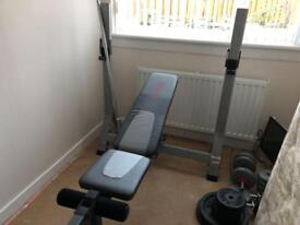 Weider Weights Bench with weights (reduced price)
