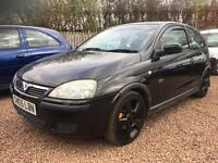 2005 Vauxhall Corsa SRi 1.4 Supplied with 1 Year MOT! Black Alloy Wheels!