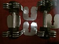 Metal Dumbbells for Sale. Weight of BOTH Dumbbells 25LBS.
