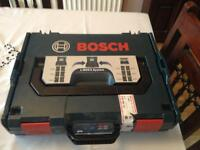 Bosch gsr 10,8-2-li drill driver with 2 batteries, charger and case