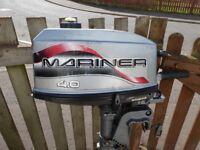 a good mariner long shaft 4 hp 2 stroke engine